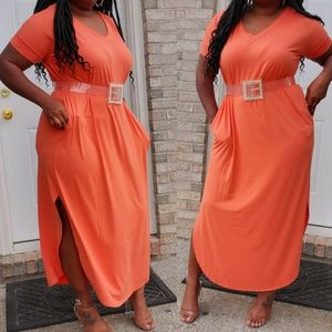 Plus Maxi Split Dress